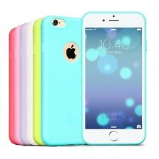 Ultra thin Candy Color Silicone Matte Soft TPU Skin Case For iPhone 7