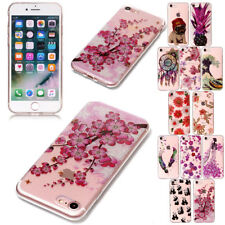 Slim Crystal Pattern Silicone Rubber Case Cover For Apple iPhone SE 6