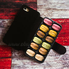 French Macarons Box Wallet iPhone cases Samsung Wallet Leather Phone C