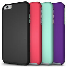 NEW TEXTURED GRIP SOFT SKIN HARD CASE COVER FOR APPLE iPHONE 6 PLUS /