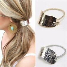Hair Band Accessories Elastic Women Ponytail Lady Rope Leaf Holder Headband UK