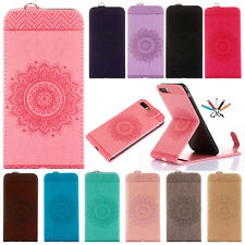 Painted Magnet Leather Card Wallet Case Stand Cover For Apple iPhone 5
