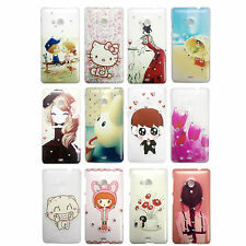 Diamond Work Printed Hard Back Cover For Nokia Microsoft Lumia 535 ----
