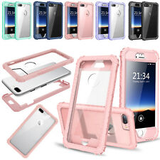 Anti-Shock Deluxe Thin Hybrid TPU+Plastic Bumper Case Cover For iPhone