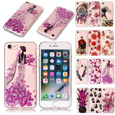 Ultra Thin Transparent Pattern Rubber Case Cover For Apple iPhone Hard