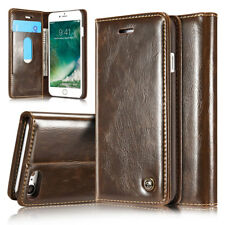 Luxury Genuine Leather Flip Wallet Card Case Cover For  iPhone 5 5s 6