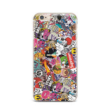 Doodle Bomber Pattern Art Design Silicone Rubber Gel Case For IPhone 4