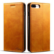 Magnetic Luxury Leather Wallet Cards Stand Case Flip Cover For iPhone