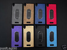 Imported Soft Rubber Back Cover Case with Metal Plate For Lava IRIS X9