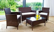RATTAN GARDEN FURNITURE CHAIRS DINING SET OUTDOOR PATIO CONSERVATORY