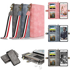 Luxury Magnetic Leather Card Wallet Flip Case Cover Pocket for iPhone