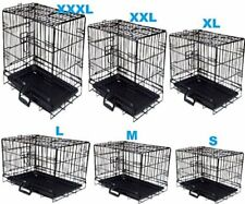 "Wire Folding Pet Crate Dog Cat Cage Suitcase Exercise Playpen 20""/24""/36""/42""/48"