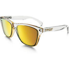 Oakley Frogskin Crystal Collection Mens Sunglasses - Polished Clear ~ 24k