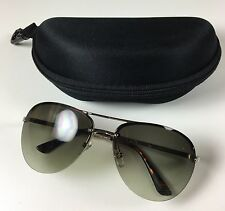 Michael Kors Kai (M2068S) Aviator Style Sunglasses Silver with Case
