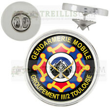 Pin's Gendarmerie Mobile Groupement III/2 Toulouse Pins Bouton Epinglette