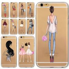 Sexy Lady Phone Case For Apple iPhone  6 6s Transparent Soft Silicon Fashional G