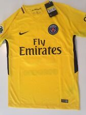maillot foot PARIS ST GERMAIN PSG NEYMAR jaune 2017/2018 neuf