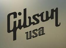 """(2) 6"""" GIBSON USA guitar vinyl Decal sticker any size color surface car  S494"""