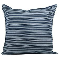 Just Linen Pair of Bold Blue Pencil Striped Cushion Covers