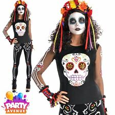 Day of the Dead Womens T-Shirt Halloween Costume Fancy Dress & Accessories Lot