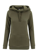 Urban Classics Ladies High COLLO Raglan Felpa con cappuccio tb1526 oliva