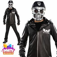 Boys Teen Bad to the Bone Halloween Skeleton Skull Costume Fancy Dress
