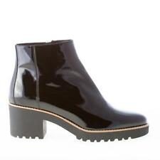 HOGAN chaussures femme shoes Route 277 black patent leather ankle boot with zip