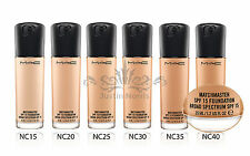 MAC MATCHMASTER SPF 15 Foundation. ALL SHADES. Full Size 35ML. Brand New