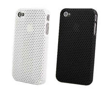 New Hollow Dot Mesh Hole Skin Case Protective Hard Back White for iPhone 4 4S