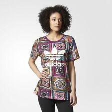 adidas x FARM Womens Crochita Boyfriend Tee | Originals Trefoil | AY6841