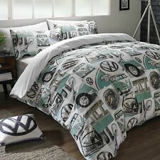 Volkswagen VW Classic Details Splitscreen Bay Camper Duvet Cover Set New