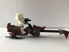 Star Wars Lego minifigure ENDOR IMPERIAL TROOPER and SPEEDER from set 9489