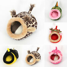 1X Small Animal Rat Hedgehog Squirrel House Guinea Pig Bed Nest Pad Cage Comfort