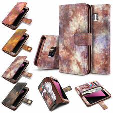 Retro Leather Wallet Flip Card Holder Stand Cover Case for Samsung Gal
