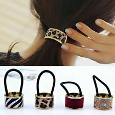 Metal Hair Cuff Stretch Ponytail Elastic Rope Hairband Tie Butterfly Claw Clamp