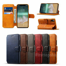 Practical Magnetic Card slot PU Leather Flip Wallet Case Cover For iPh
