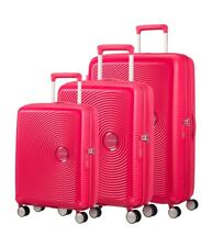 Juego Maletas Samsonite American Tourister Soundbox Lime y Pink 75 - 69 - 55