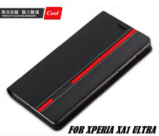 """Luxury Faux Leather Flip Wallet Back Cover Case For Sony Xperia XA1 ULTRA  6.0"""""""