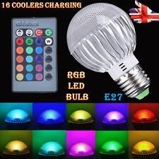 E27 RGB 5W LED Bulb 16 Colours Changing Globe Light Lamp + Remote Controller.