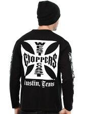Camiseta de manda larga West Coast Choppers OG Cross Negro