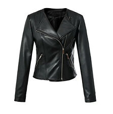Giacca Corta Giubbotto Donna Similpelle PU Leather Short Woman Jacket JAC0024 P