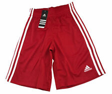 adidas Kinder Shorts Commander Youth, Rot/Weiß Bermuda Basketballhose Gr.116-164