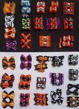 Pair of Halloween Dog & Puppy Hair Bands Top Knot Grooming Bows Shih Tzu etc