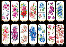Colorful flower Butterfly Lady Girl Temporary Tattoo STENCIL Sticker Body Art