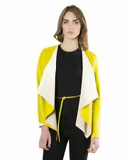 Giacca in pelle donna Monic • colore giallo • giacca in pelle nappa effetto lisc