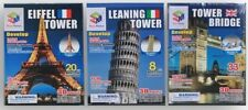puzzle 3D magic puzzle, tour Eiffel, Tower Bridge, Tour de Pise, carton, + 3 ans