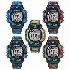 Kids Boys Camo Digital Watches Fashion LED Watch Wristwatch Waterproof Sports