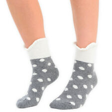 Womens Two Tone Ruffle Top Spotted Ankle Socks in 5 Colours 1-5 Pairs Available