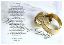 Personalised Wedding Poem A Gift For The Bride Groom On Their Day