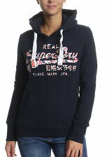 Superdry Suéter Mujer Vintage Logo Cutout Eclipse Azul Marino